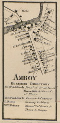 Amboy, New York 1859 Old Town Map Custom Print - Onondaga Co.