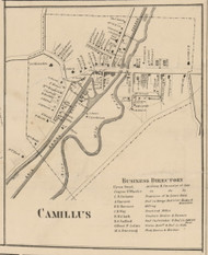 Camillus Village, New York 1859 Old Town Map Custom Print - Onondaga Co.