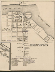 Brewerton, New York 1859 Old Town Map Custom Print - Onondaga Co.