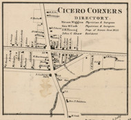 Cicero Corners, New York 1859 Old Town Map Custom Print - Onondaga Co.