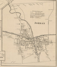 Jordan, New York 1859 Old Town Map Custom Print - Onondaga Co.