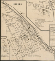Geddes Village, New York 1859 Old Town Map Custom Print - Onondaga Co.
