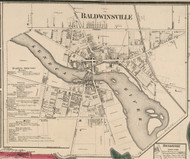 Baldwinsville, New York 1859 Old Town Map Custom Print - Onondaga Co.