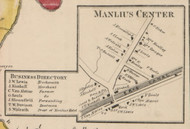 Manlius Center, New York 1859 Old Town Map Custom Print - Onondaga Co.