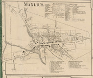 Manlius Village, New York 1859 Old Town Map Custom Print - Onondaga Co.