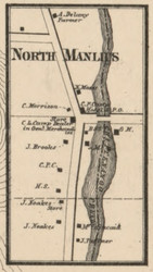 North Manlius, New York 1859 Old Town Map Custom Print - Onondaga Co.