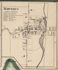 Marcellus Village, New York 1859 Old Town Map Custom Print - Onondaga Co.