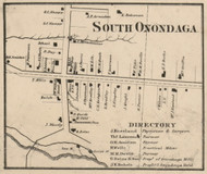 South Onondaga, New York 1859 Old Town Map Custom Print - Onondaga Co.