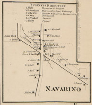 Navarino, New York 1859 Old Town Map Custom Print - Onondaga Co.