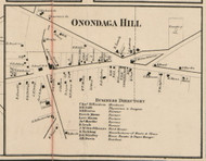 Onondaga Hill, New York 1859 Old Town Map Custom Print - Onondaga Co.