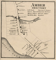 Amber, New York 1859 Old Town Map Custom Print - Onondaga Co.