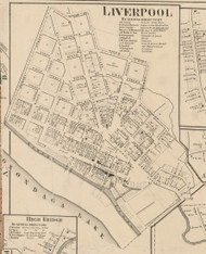Liverpool, New York 1859 Old Town Map Custom Print - Onondaga Co.