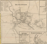 Skaneateles Village, New York 1859 Old Town Map Custom Print - Onondaga Co.