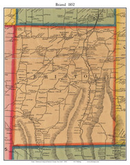 Bristol, New York 1852 Old Town Map Custom Print - Ontario Co.