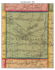 East Bloomfield, New York 1852 Old Town Map Custom Print - Ontario Co.
