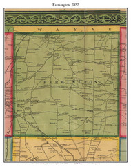 Farmington, New York 1852 Old Town Map Custom Print - Ontario Co.