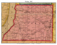 Gorham, New York 1852 Old Town Map Custom Print - Ontario Co.
