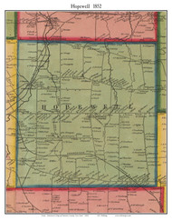 Hopewell, New York 1852 Old Town Map Custom Print - Ontario Co.