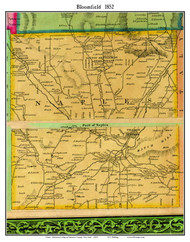 Naples, New York 1852 Old Town Map Custom Print - Ontario Co.