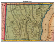 South Bristol, New York 1852 Old Town Map Custom Print - Ontario Co.