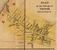 Victor Village, New York 1852 Old Town Map Custom Print - Ontario Co.