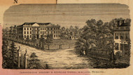 Canandaigua Academy & Boarding School, New York 1852 Old Town Map Custom Print - Ontario Co.