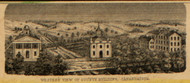 Western View of County Building, New York 1852 Old Town Map Custom Print - Ontario Co.