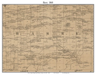 Barre, New York 1860 Old Town Map Custom Print - Orleans Co.