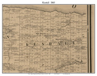 Kendall, New York 1860 Old Town Map Custom Print - Orleans Co.