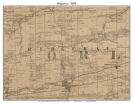 Ridgeway, New York 1860 Old Town Map Custom Print - Orleans Co.