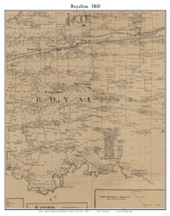 Royalton, New York 1860 Old Town Map Custom Print - Orleans Co.
