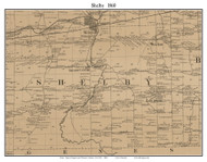 Shelby, New York 1860 Old Town Map Custom Print - Orleans Co.
