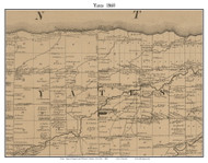 Yates, New York 1860 Old Town Map Custom Print - Orleans Co.
