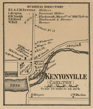 Kenyonville, New York 1860 Old Town Map Custom Print - Orleans Co.