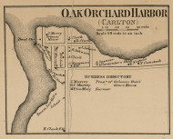 Oak Orchard Harbor, New York 1860 Old Town Map Custom Print - Orleans Co.