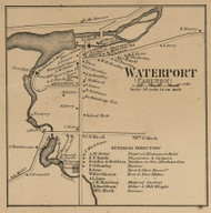 Waterport, New York 1860 Old Town Map Custom Print - Orleans Co.