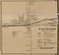 Eagle Harbor, New York 1860 Old Town Map Custom Print - Orleans Co.