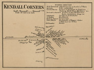 Kendall Corners, New York 1860 Old Town Map Custom Print - Orleans Co.