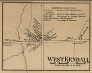 West Kendall, New York 1860 Old Town Map Custom Print - Orleans Co.