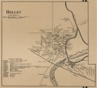 Holley, New York 1860 Old Town Map Custom Print - Orleans Co.