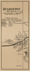 Hulberton, New York 1860 Old Town Map Custom Print - Orleans Co.