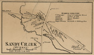 Sandy Creek, New York 1860 Old Town Map Custom Print - Orleans Co.
