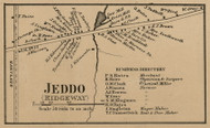 Jeddo, New York 1860 Old Town Map Custom Print - Orleans Co.
