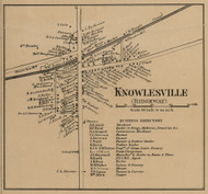 Knowlesville, New York 1860 Old Town Map Custom Print - Orleans Co.