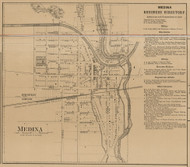 Medina, New York 1860 Old Town Map Custom Print - Orleans Co.
