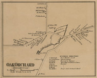 Oak Orchard, New York 1860 Old Town Map Custom Print - Orleans Co.