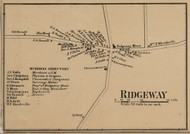 Ridgeway Village, New York 1860 Old Town Map Custom Print - Orleans Co.