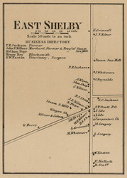 East Shelby, New York 1860 Old Town Map Custom Print - Orleans Co.