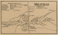 Millville, New York 1860 Old Town Map Custom Print - Orleans Co.