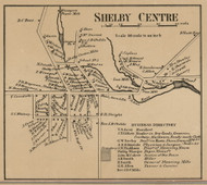 Shelby Center, New York 1860 Old Town Map Custom Print - Orleans Co.